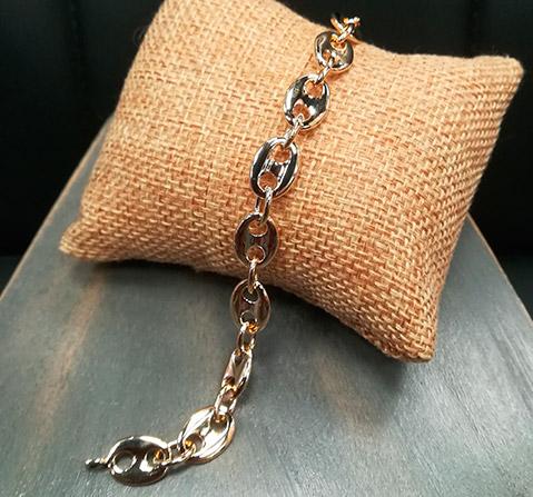 plaque or bracelet homme renoble